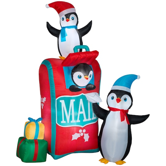 6.5Ft Airblown® Inflatable Christmas Mailbox With Penguins Scene By Gemmy Industries | Michaels®