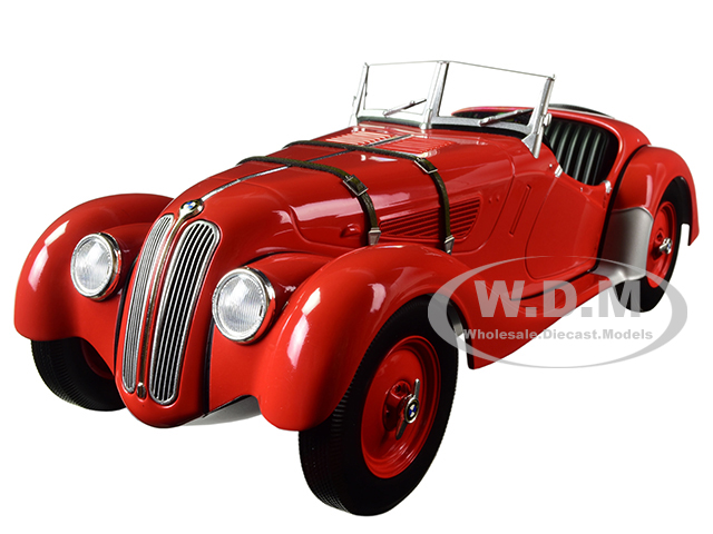 1936 BMW 328 Convertible Red Limited Edition to 504 pieces Worldwide 1/18 Diecast Model Car by Minichamps