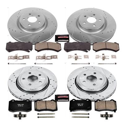 Power Stop Z23 Evolution Sport Performance 1-Click Front and Rear Brake Kit - K5958
