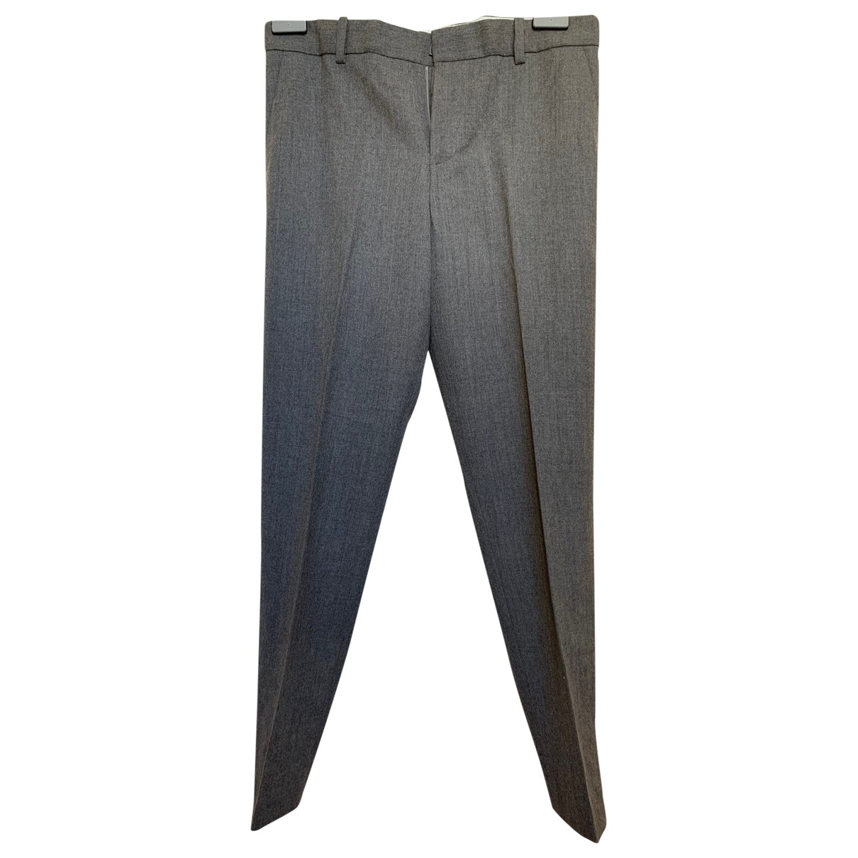 Polo Ralph Lauren \N Grey Wool Trousers for Women 4 US