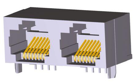 TE Connectivity , 5406526, Female Cat5 RJ45 Socket