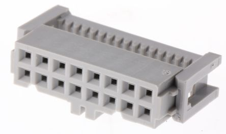 3M 16-Way IDC Connector Socket for Cable Mount, 2-Row