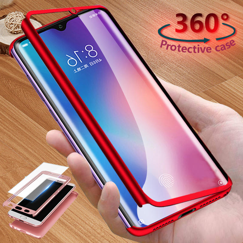 Bakeey 360° Full Body PC Front+Back Cover Protective Case With Screen Protector For Xiaomi Mi 9 / Xiaomi Mi9 Mi 9 Transp