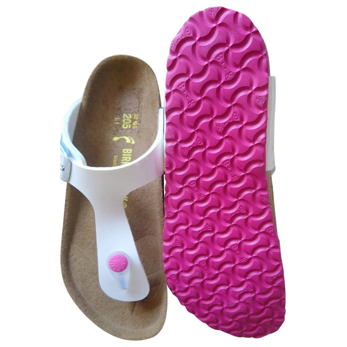 Birkenstock \N White Leather Sandals for Kids 32 FR