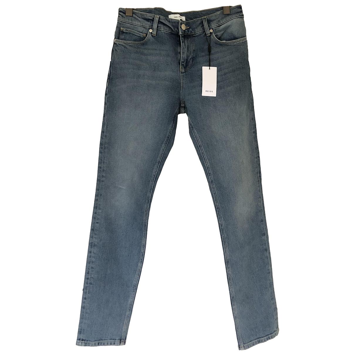 Reiss N Blue Cotton Jeans for Men 40 FR
