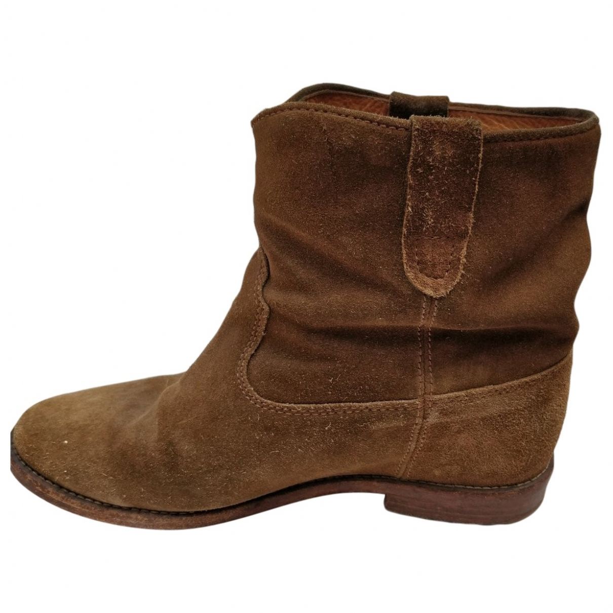 Isabel Marant Crisi  Brown Suede Ankle boots for Women 38 EU