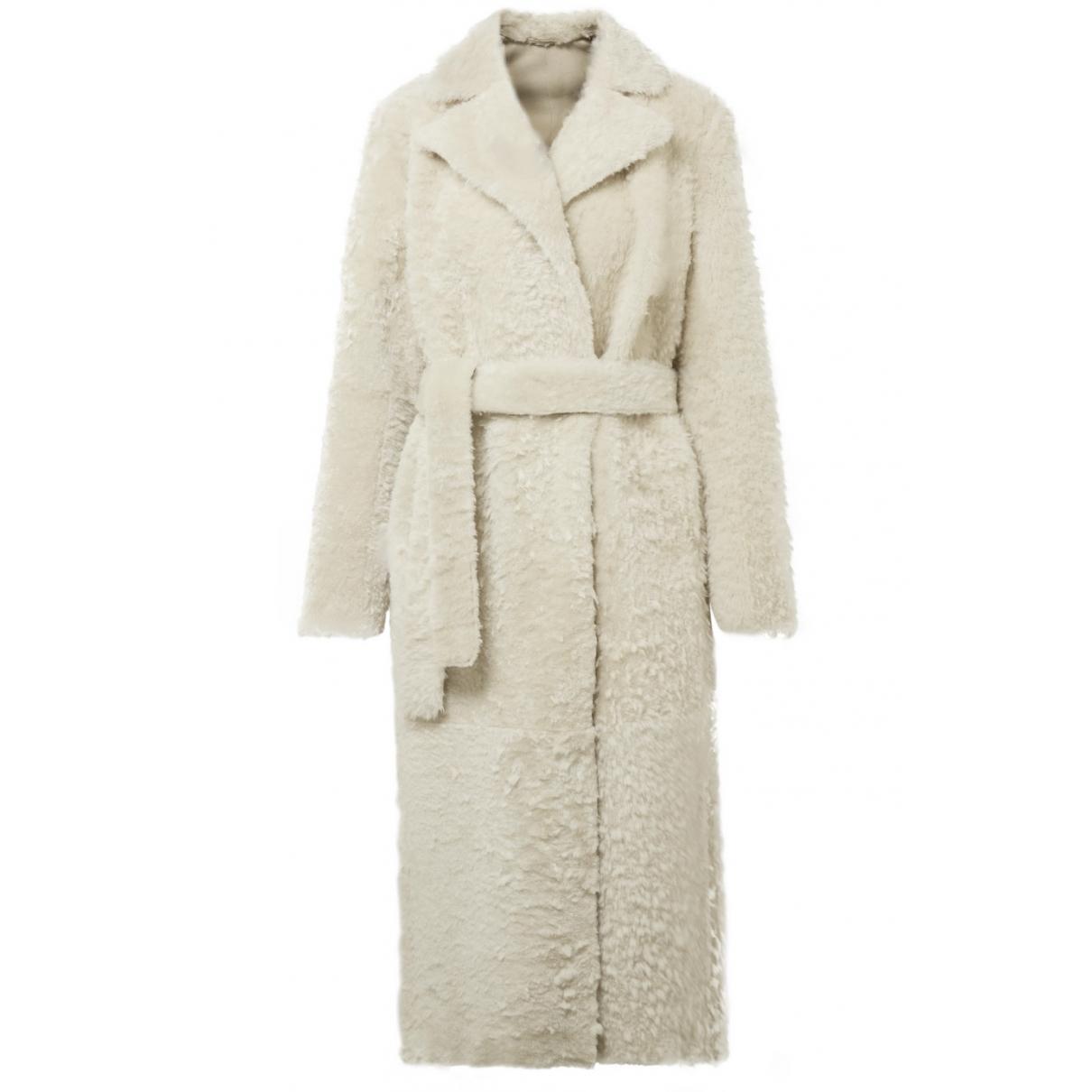 Theory \N Ecru Shearling coat for Women M International