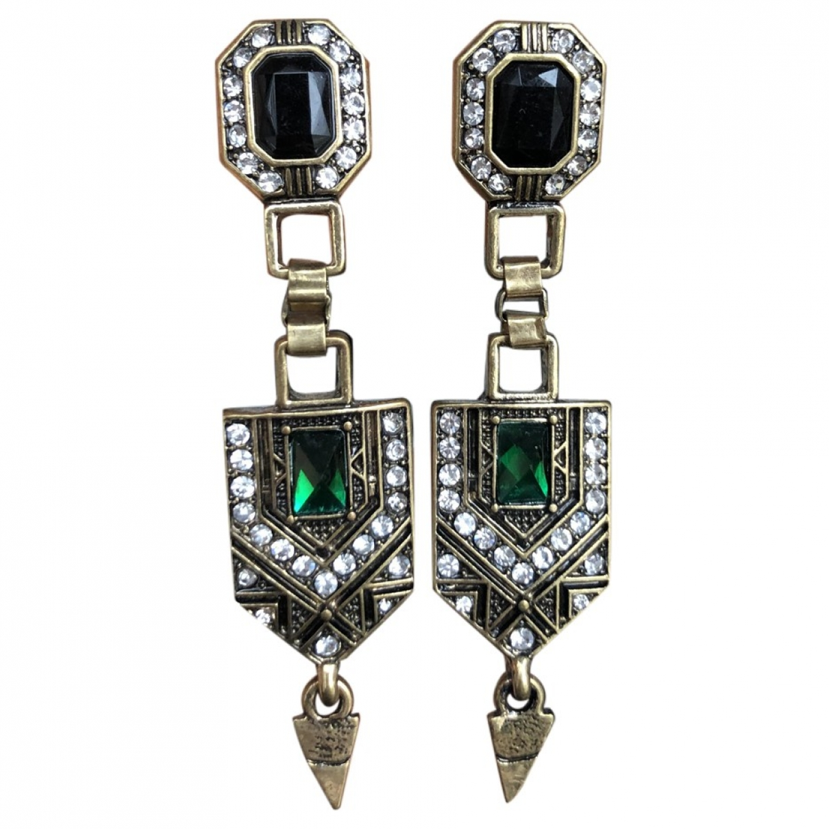 Non Signé / Unsigned \N Multicolour Steel Earrings for Women \N