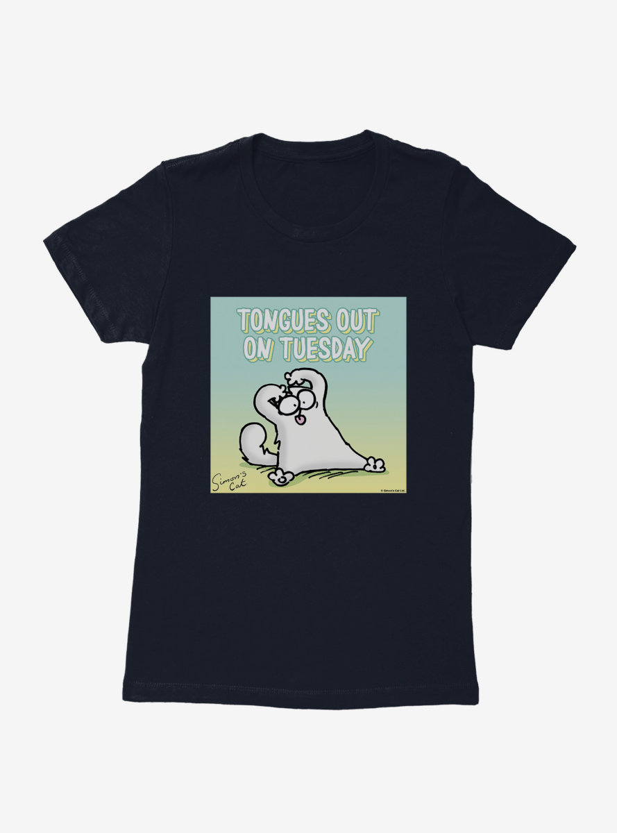 Simon's Cat Tongues Out On Tuesday Womens T-Shirt