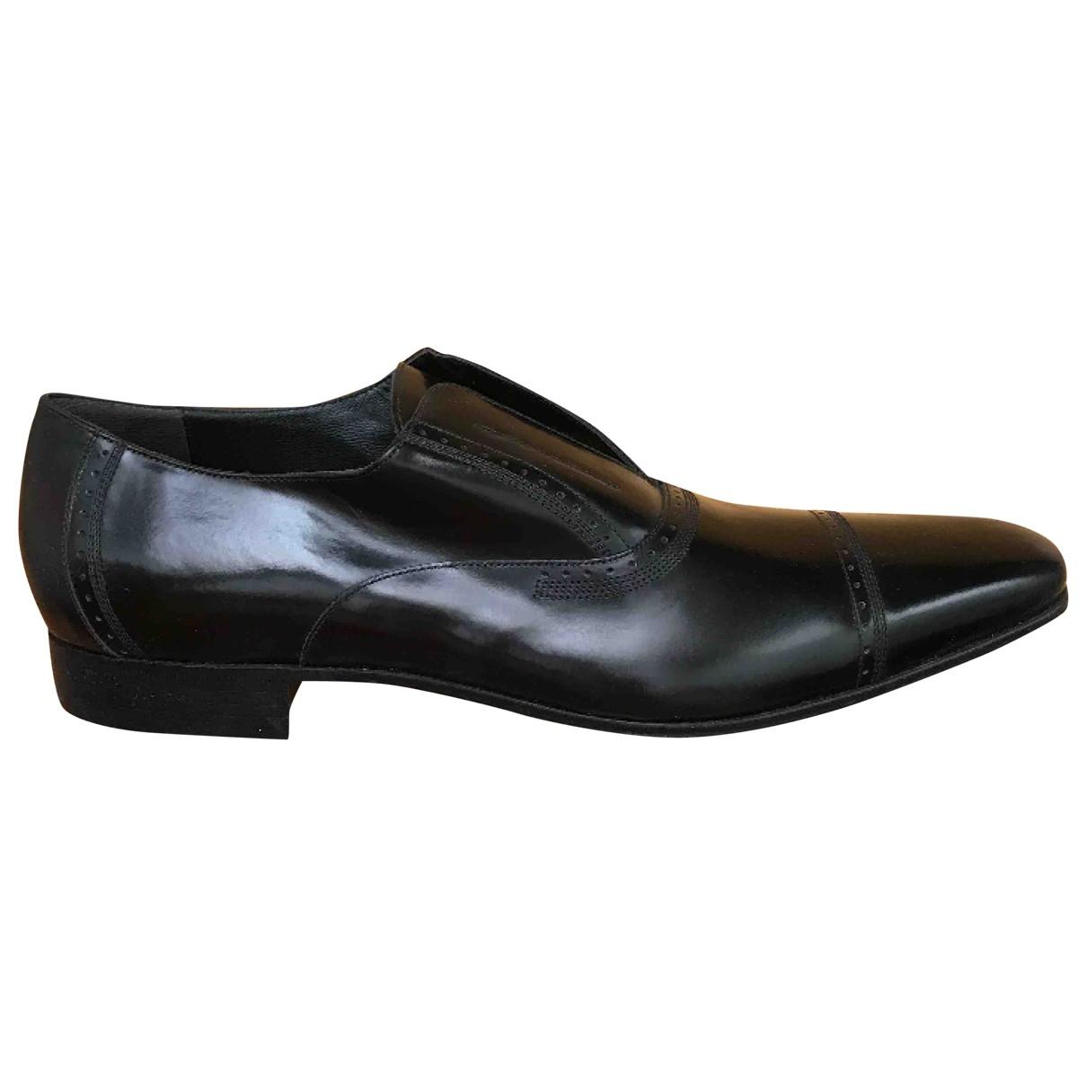 D&g \N Black Leather Flats for Men 44 IT
