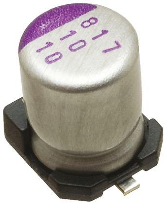 Panasonic 150μF Polymer Capacitor 16V dc, Surface Mount - 16SVP150M (5)