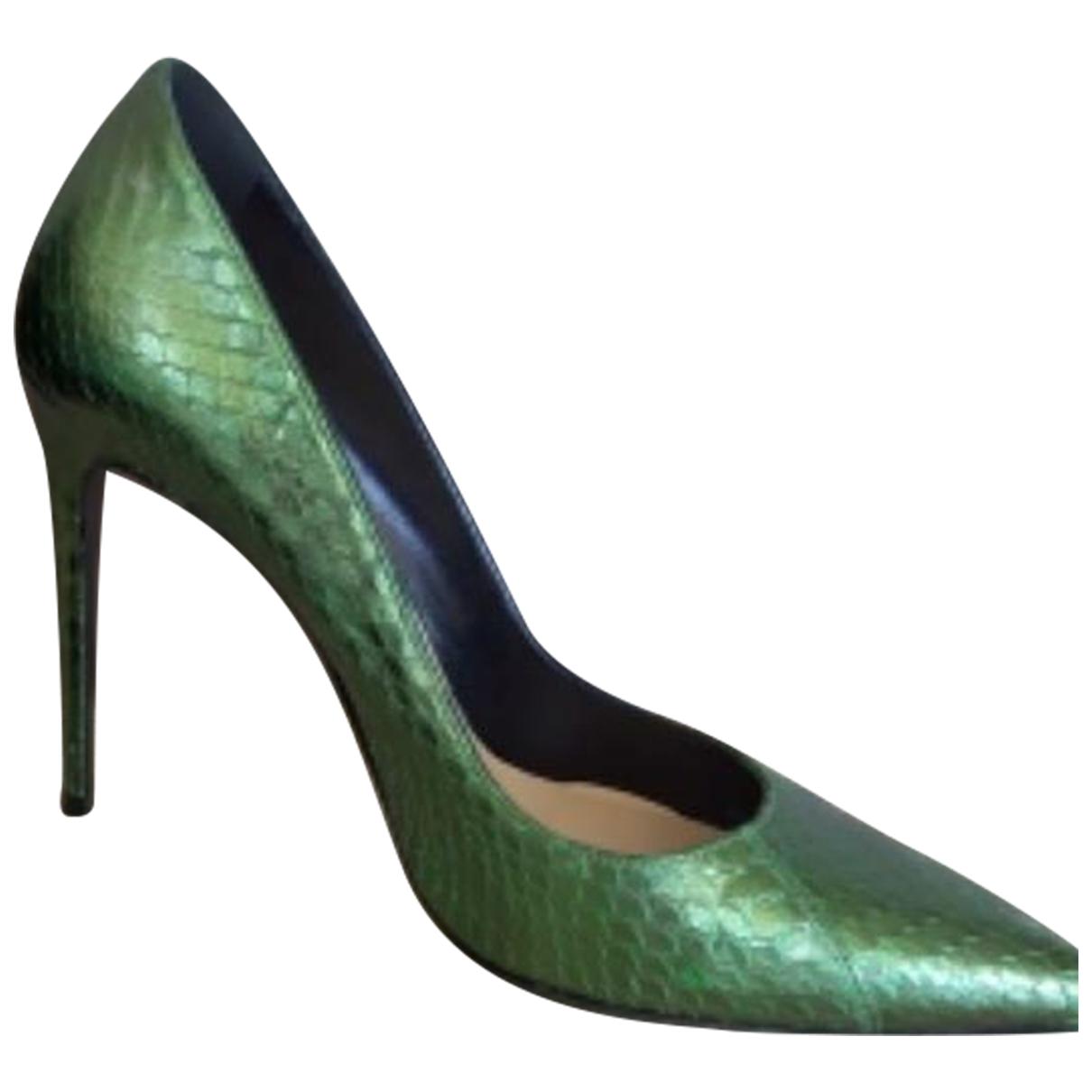 Barbara Bui \N Green Leather Heels for Women 39 EU