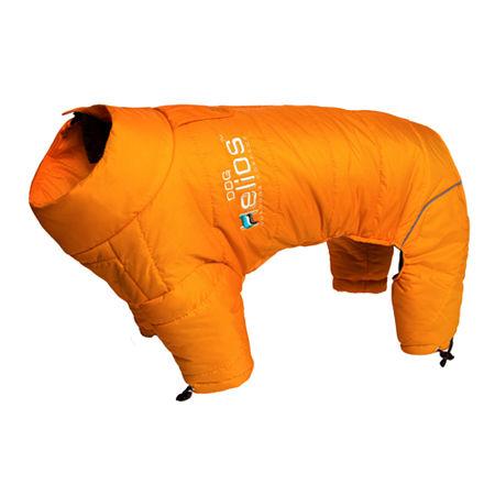 The Pet Life Helios Thunder-crackle Full-Body Waded-Plush Adjustable and 3M Reflective Dog Jacket, One Size , Orange