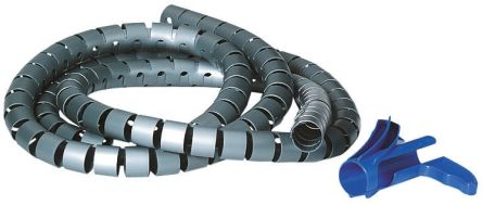 HellermannTyton Spiral Wrap, I.D 20mm 21mm Polypropylene Helawrap Series, White