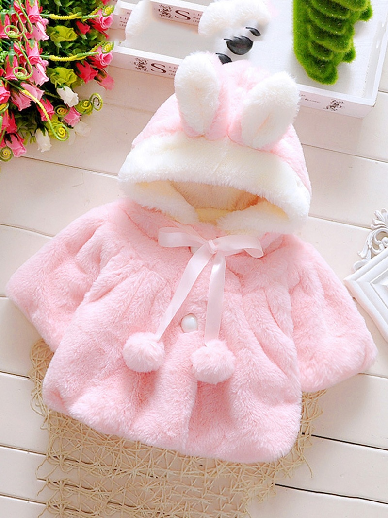 Ericdress Color Block Hooded Thick Baby Girl's Coat
