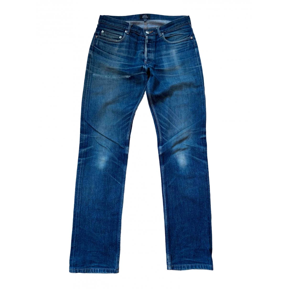 Apc \N Blue Cotton Jeans for Men 30 US