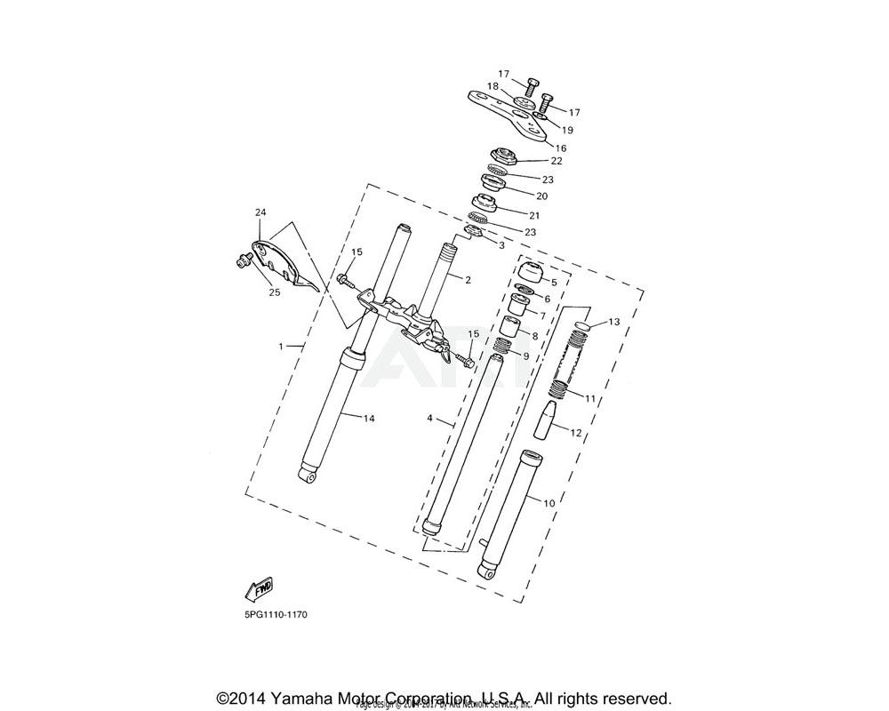 Yamaha OEM 4X4-23435-00-00 CROWN, HANDLE