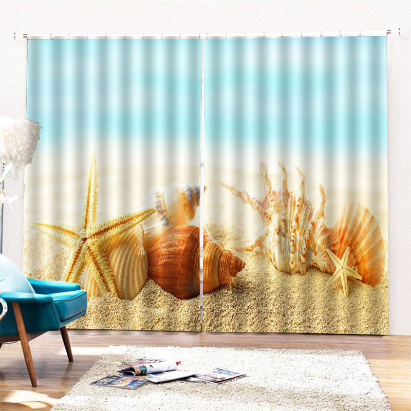 Beddinginn Ultraviolet-Proof Modern Beach Curtains/Window Screens
