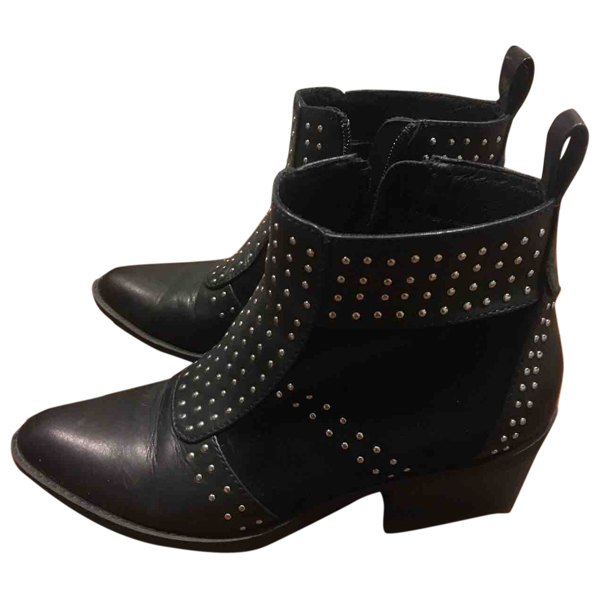 Windsor Smith \N Black Leather Ankle boots for Women 38 IT