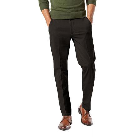 Dockers Men's Slim Fit Workday Khaki Smart 360 Flex Pants D1, 32 30, Black