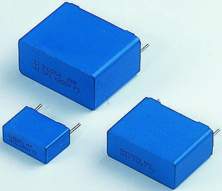 EPCOS 10nF Polypropylene Capacitor PP 1.6 kV dc, 500 V ac ±10% Tolerance Through Hole B32652 Series (10)