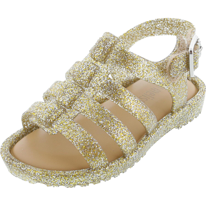 Melissa Girl's Mini Flox Gold Glitter Ankle-High Sandal - 5M