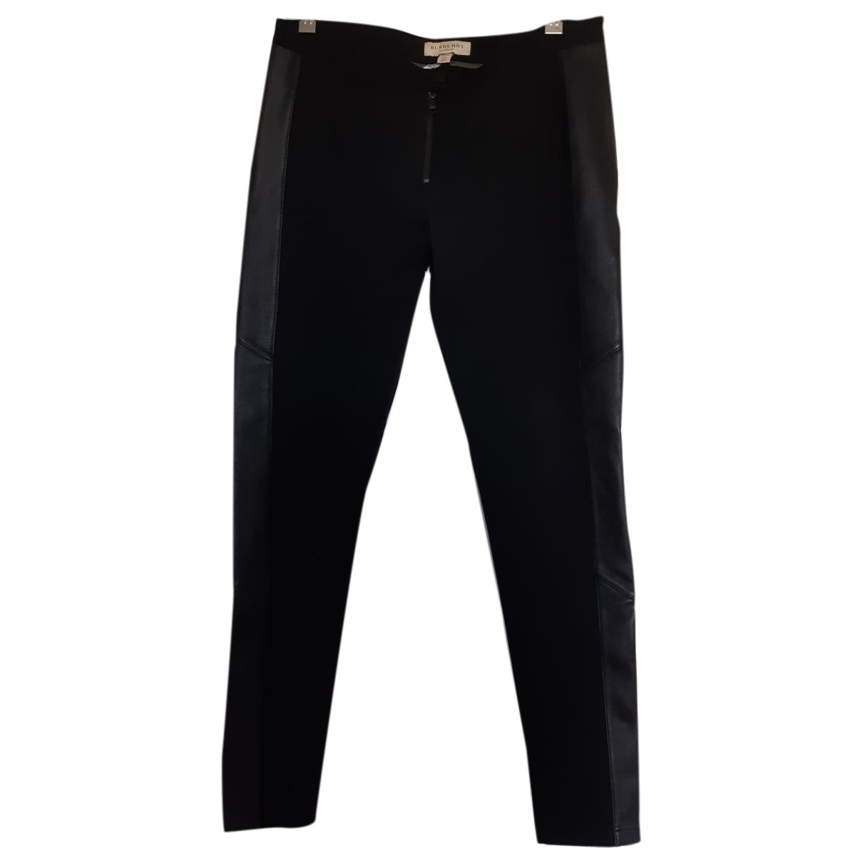 Burberry \N Black Trousers for Women 14 UK