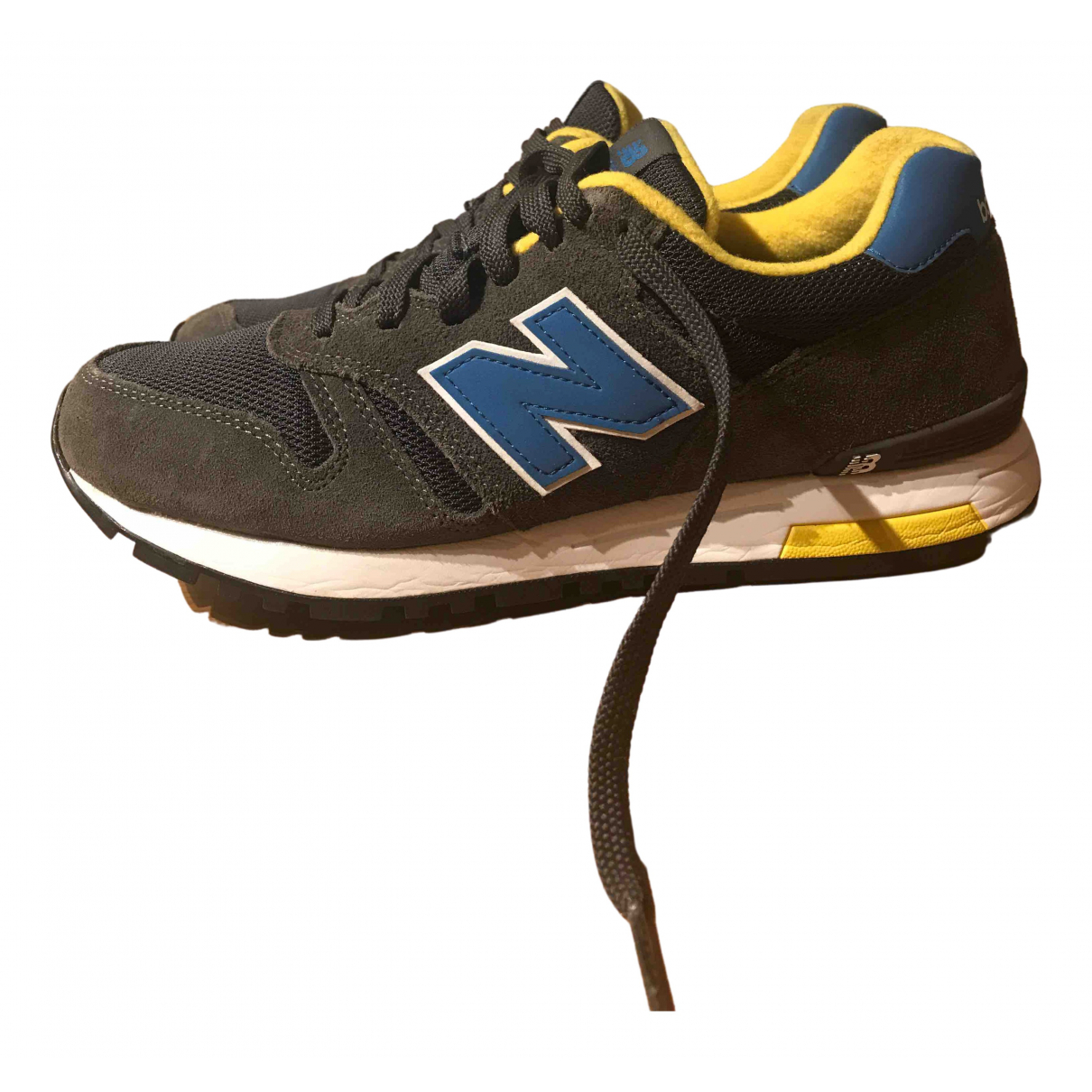New Balance \N Anthracite Leather Trainers for Men 42 EU