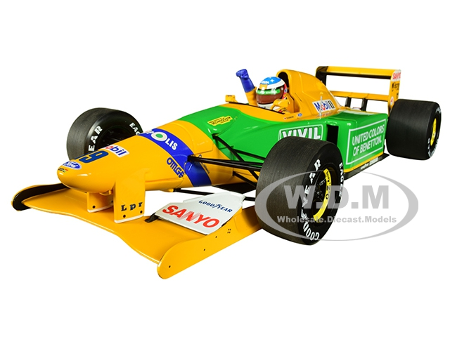 Benetton Ford B192 19 Michael Schumacher 1st GP Victory Spa (1992) Limited Edition to 1992 pieces Worldwide 1/18 Diecast Model Car by Minichamps