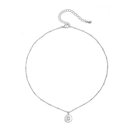 Mixit 16 Inch Link Pendant, One Size , Silver
