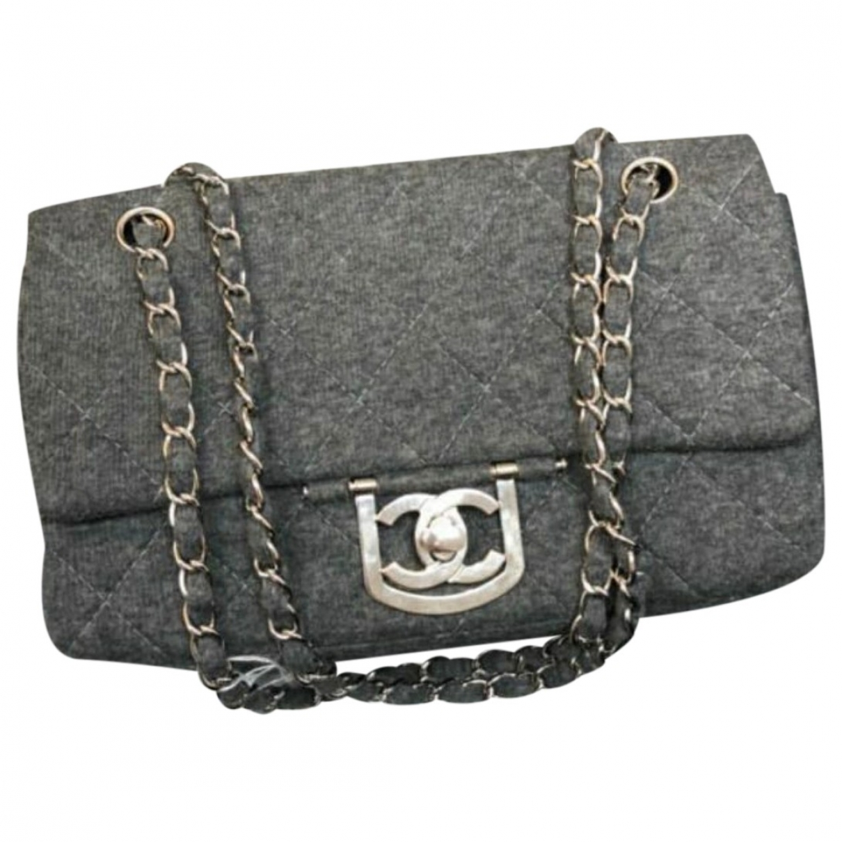 Chanel Timeless/Classique Grey Cloth handbag for Women \N