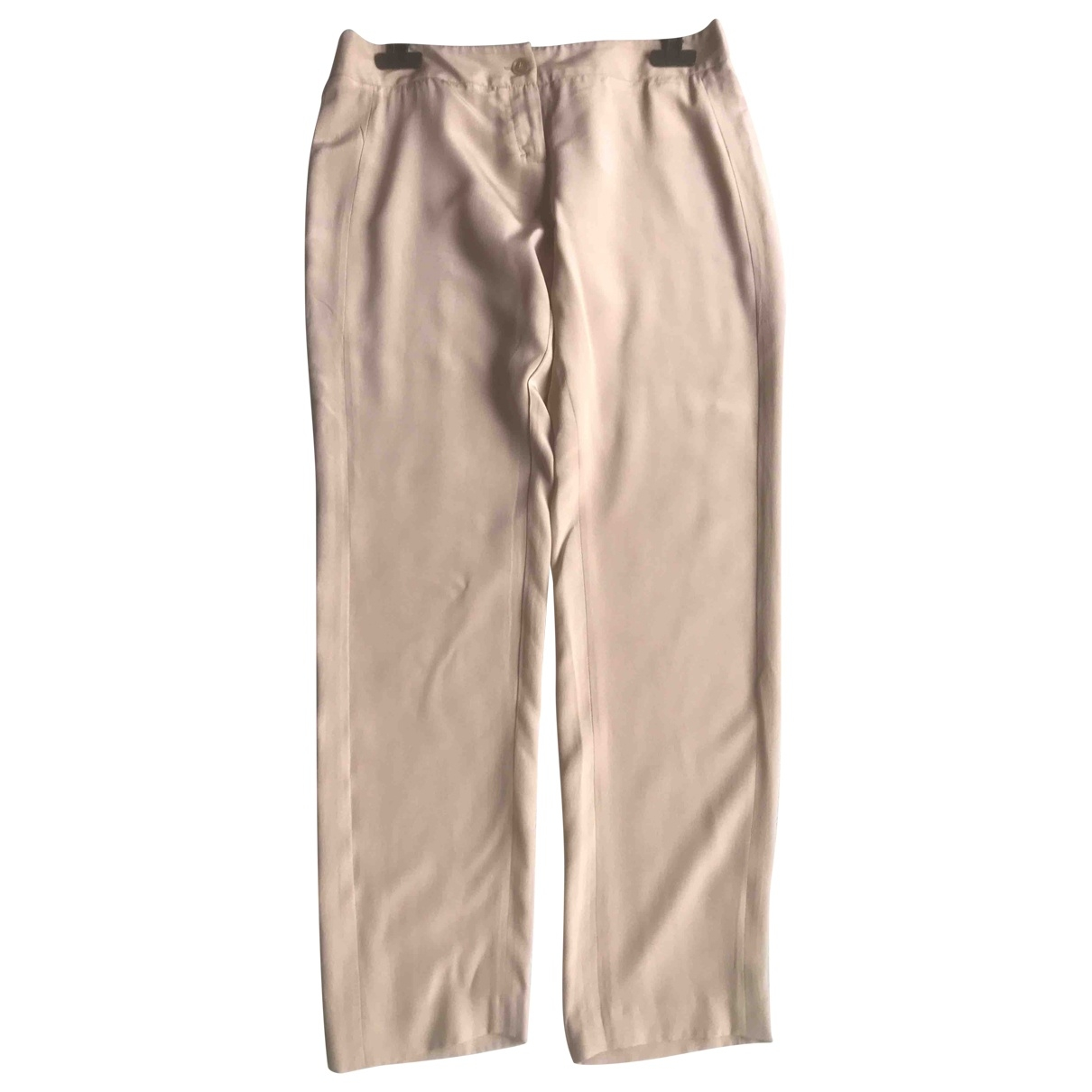 Schumacher \N Beige Silk Trousers for Women 3 0-5