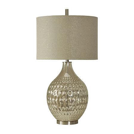 Stylecraft 19 W Mercury Glass Table Lamp, One Size , Silver
