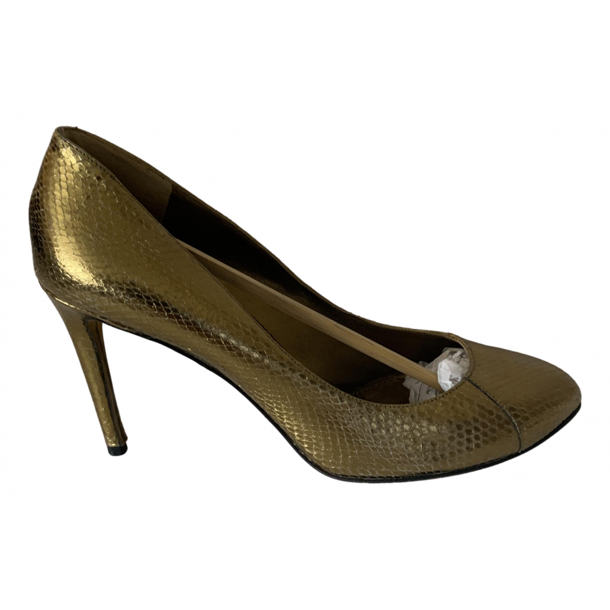 D&g \N Pumps in  Gold Wasserschlangen