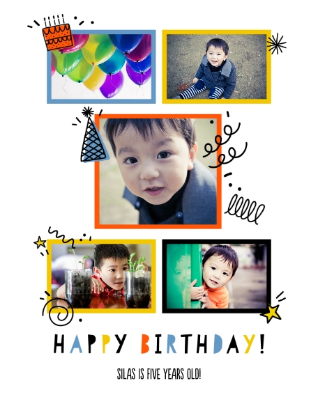 Birthday 16x20 Adhesive Poster, Home Décor -Birthday Doodles