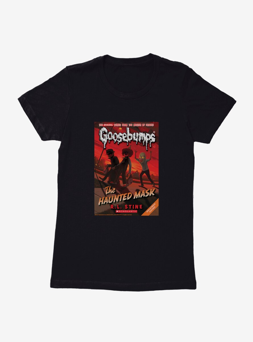 Goosebumps The Haunted Mask Book Womens T-Shirt
