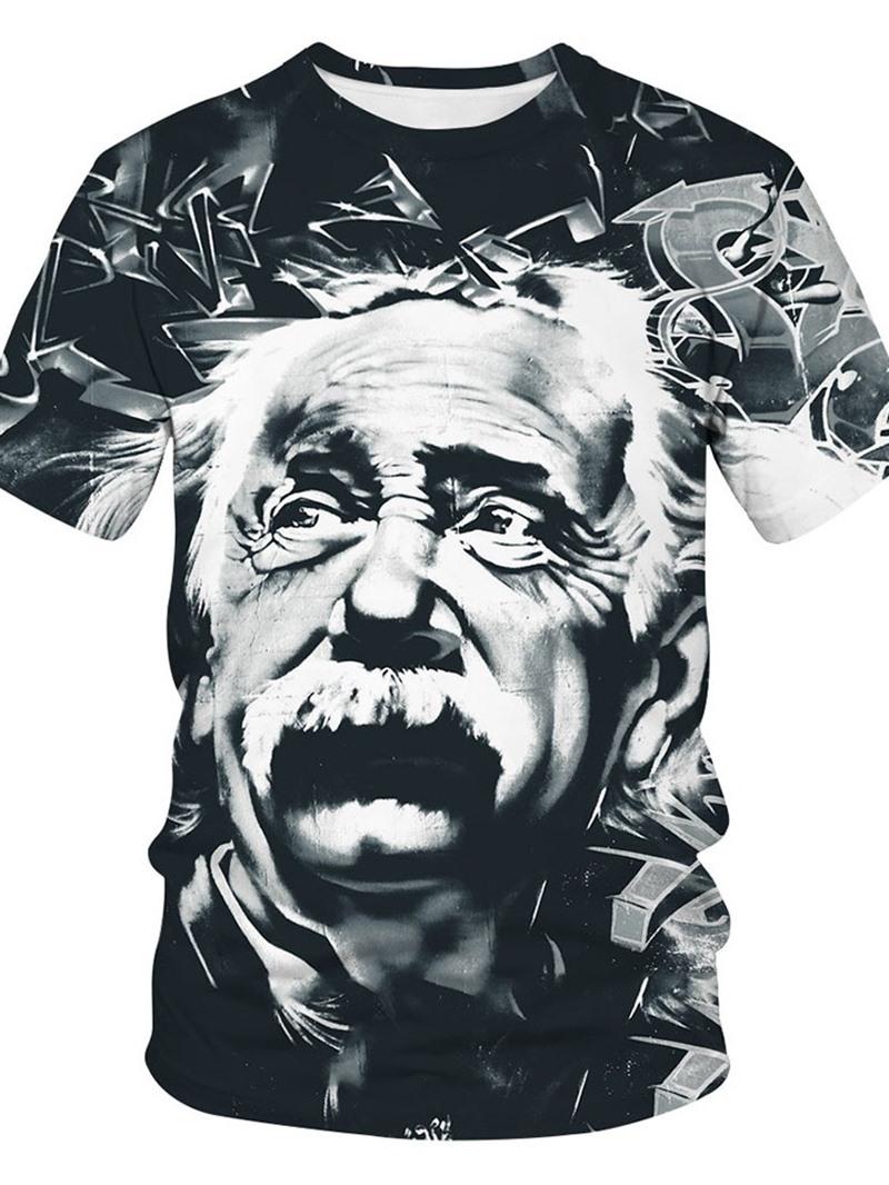 Ericdress Round Neck Print Short Sleeve Loose Men's T-shirt