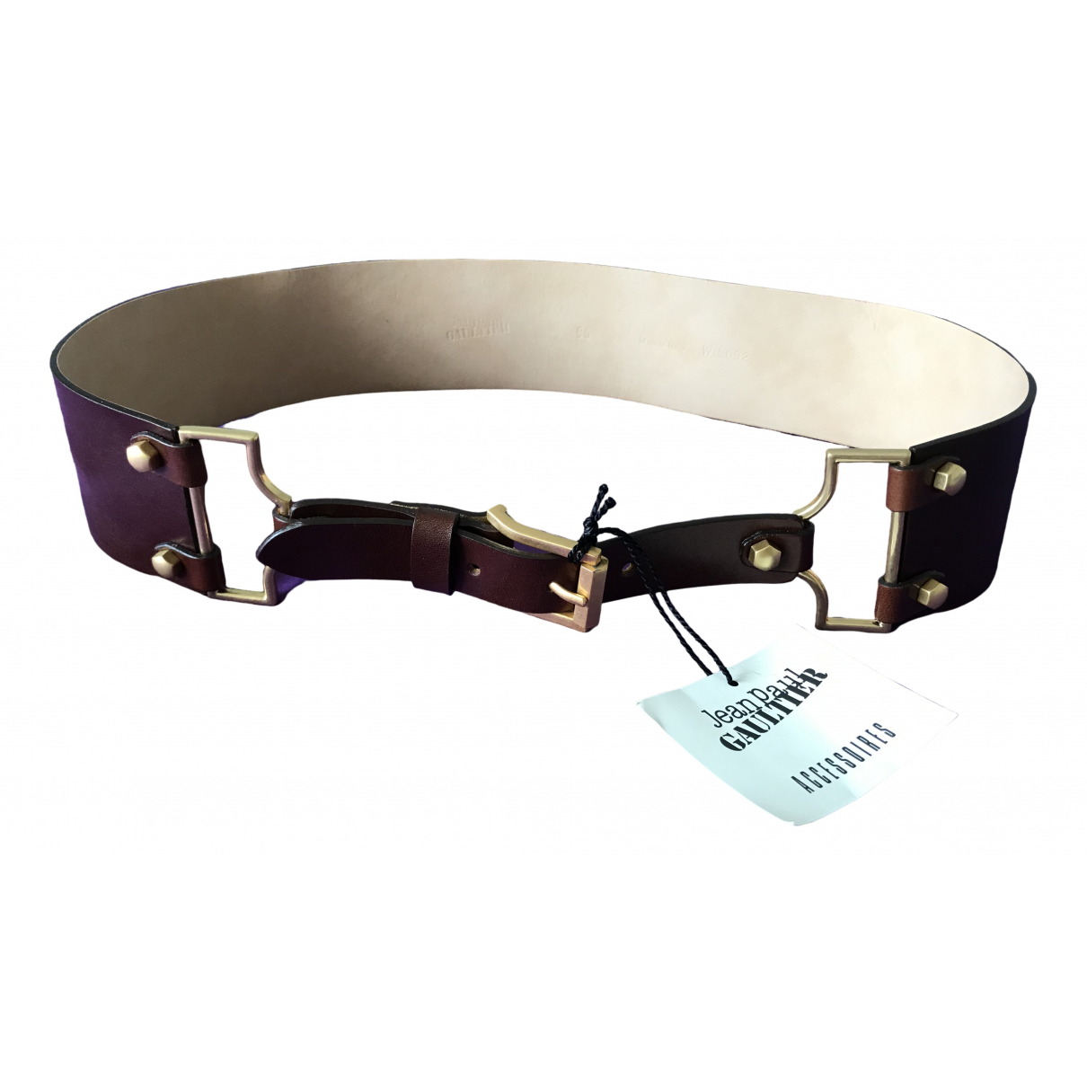 Jean Paul Gaultier \N Brown Leather belt for Women 85 cm
