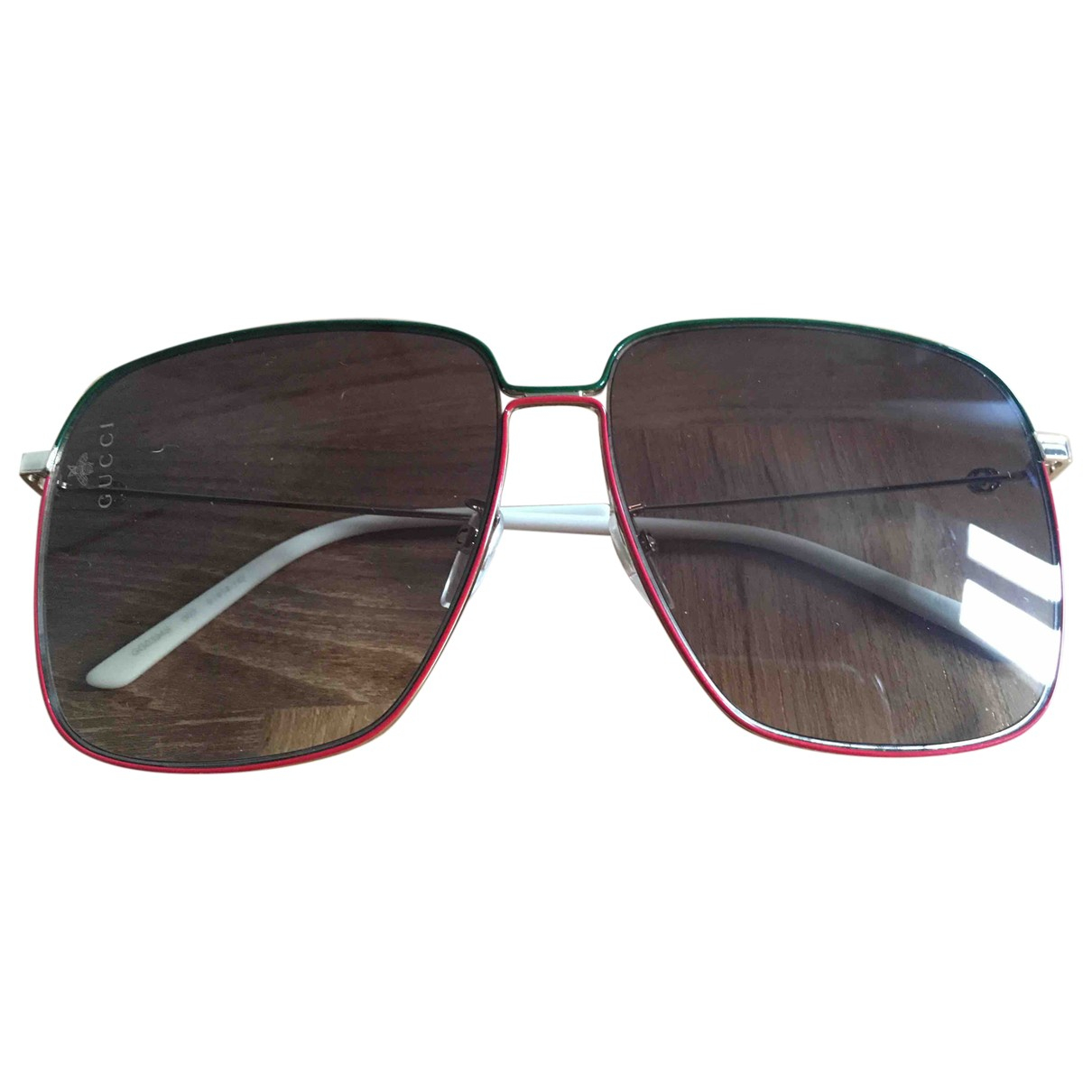 Gucci \N Red Metal Sunglasses for Women \N