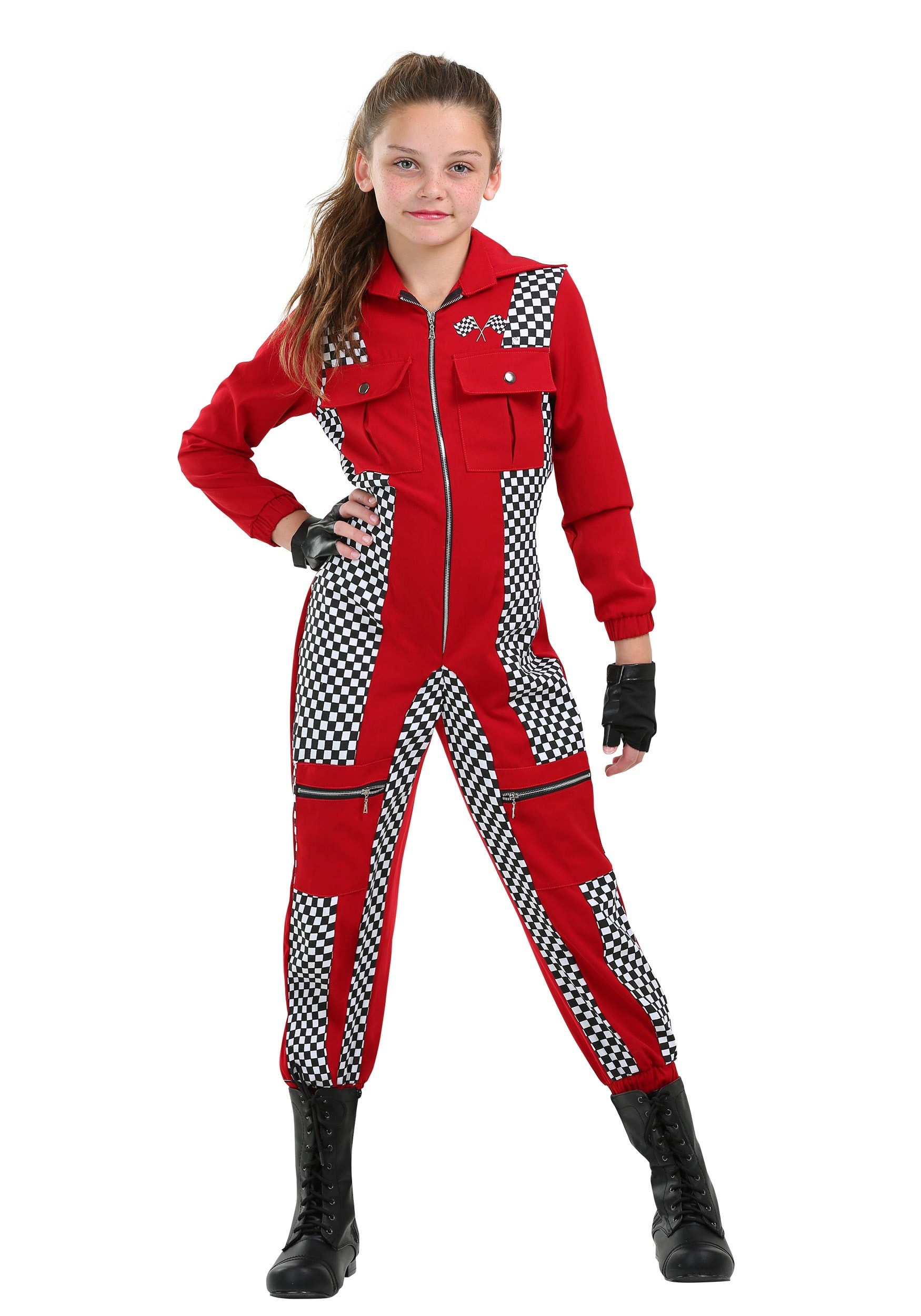 Racer Jumpsuit Costume for Girls