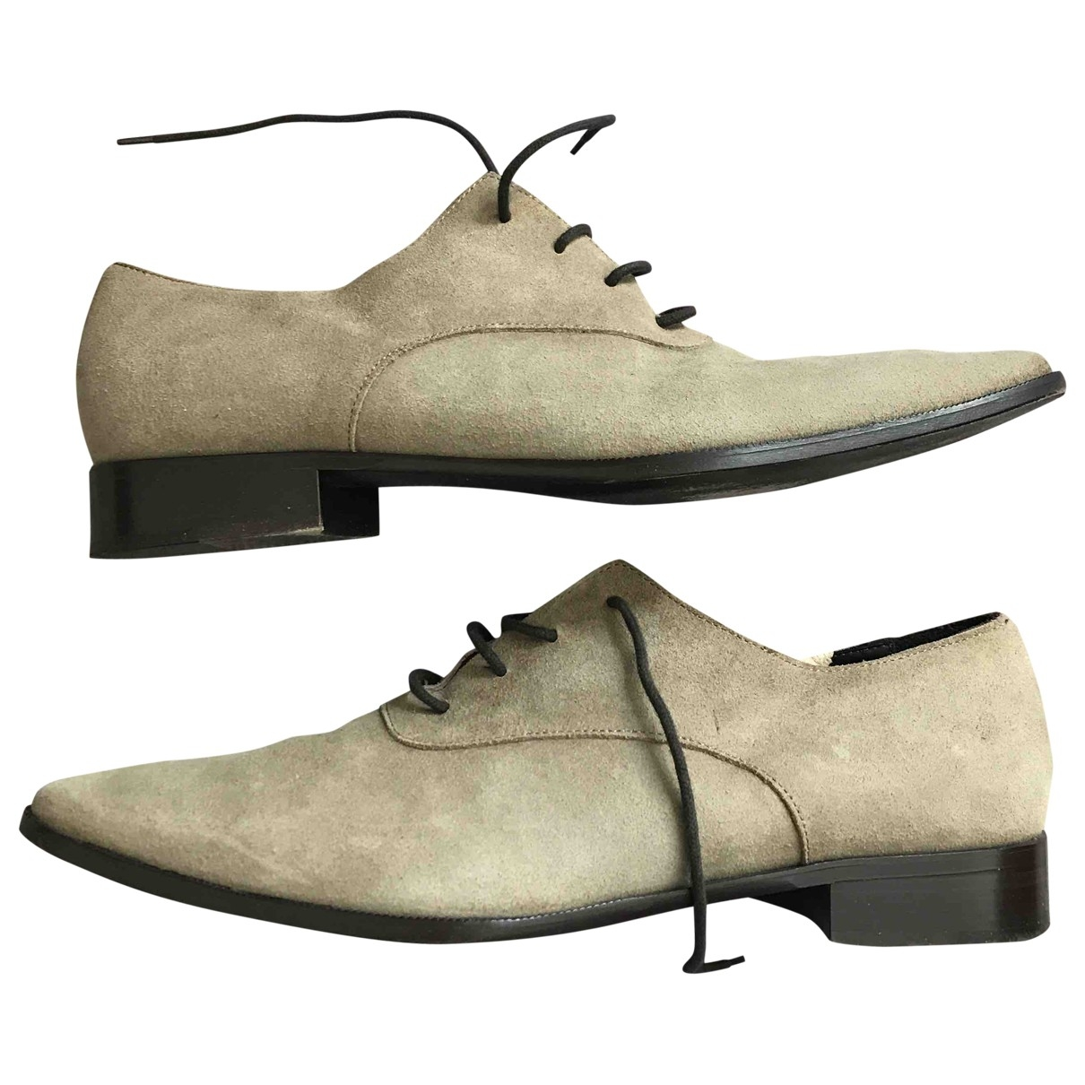 The Kooples \N Beige Suede Lace ups for Men 44 EU