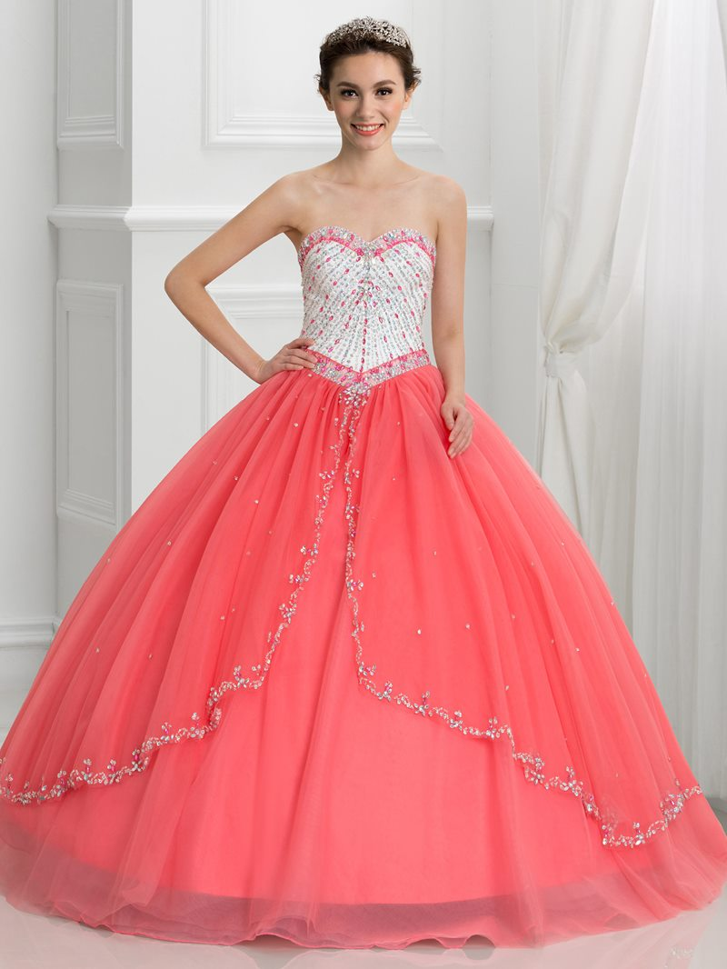 Ericdress Sweetheart Beading Ball Gown Quinceanera Dress with Jacket