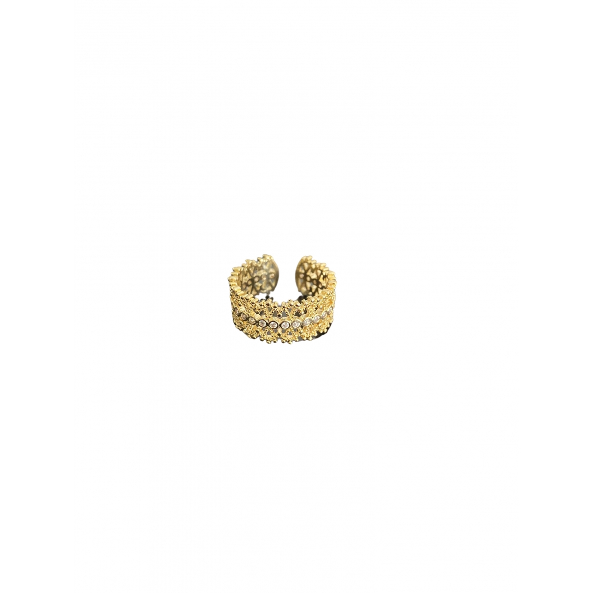 Non Signé / Unsigned \N Gold Metal ring for Women 54 MM