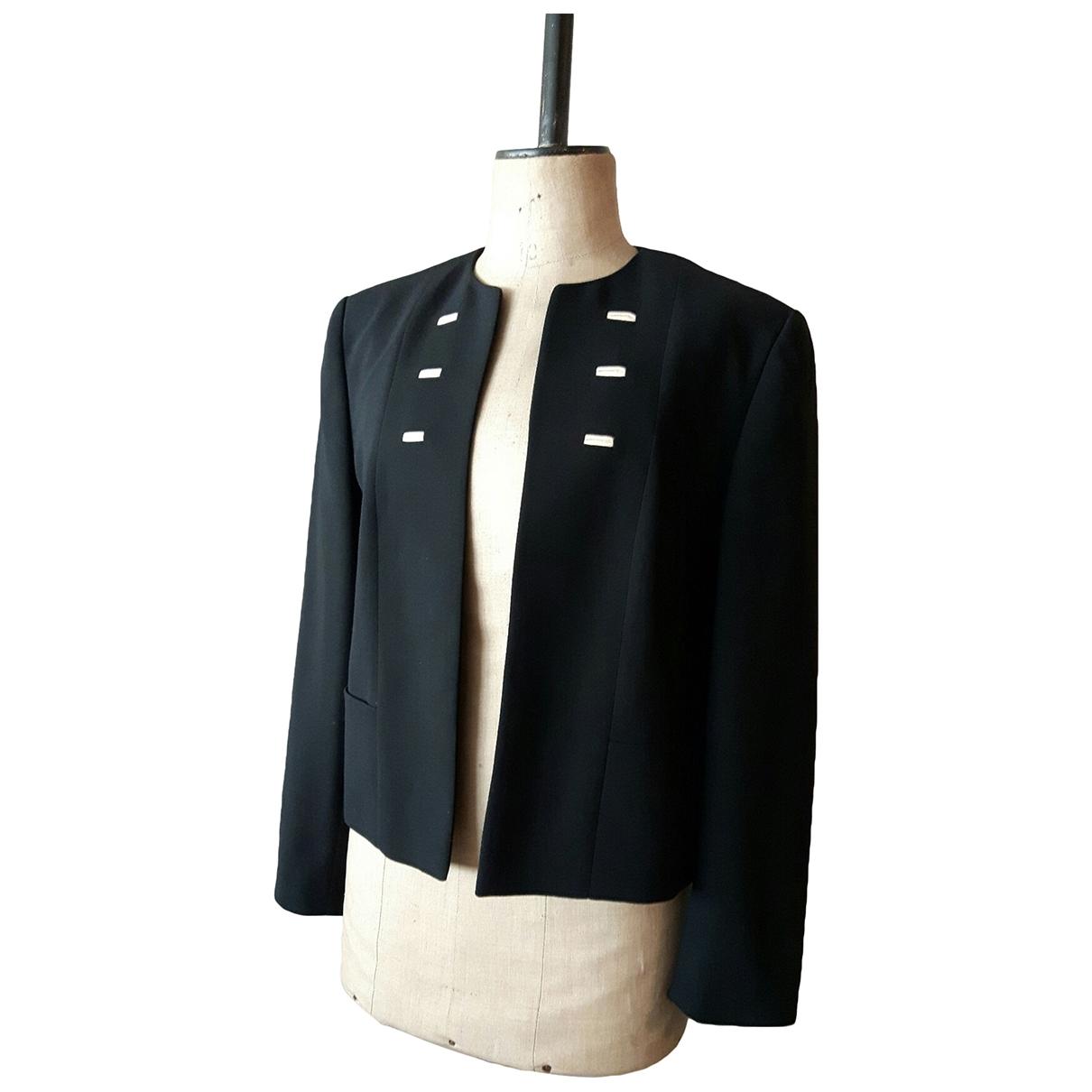 Louis Feraud \N Black Wool jacket for Women 42 FR