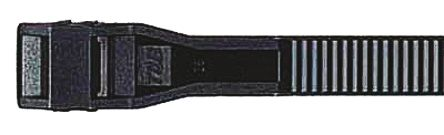 Thomas & Betts , Col-Ty Series Black Polyamide Cable Tie, 180mm x 9 mm