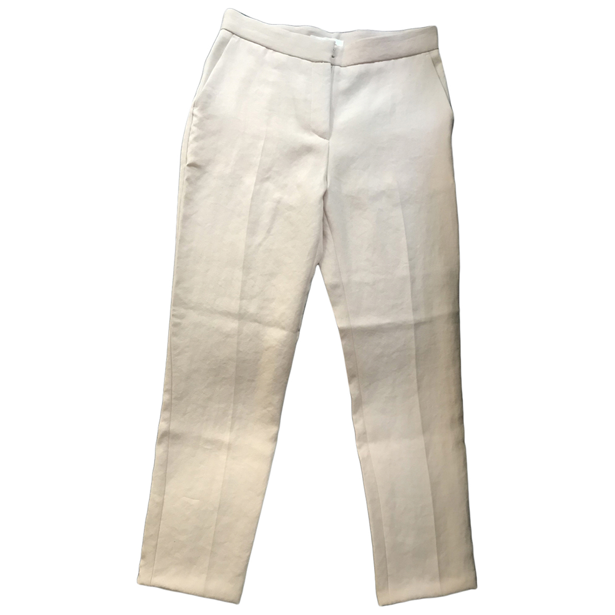 Maje \N Pink Trousers for Women 36 FR