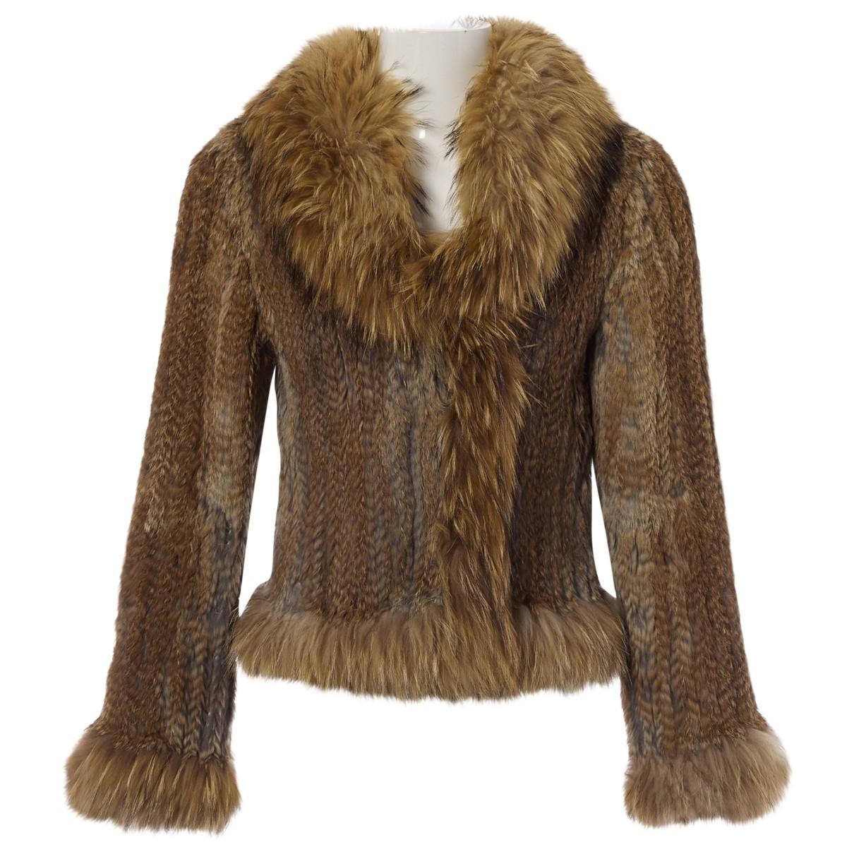Yves Salomon \N Beige Faux fur jacket for Women 40 FR