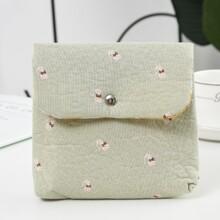 Cat Print Sanitary Napkin Storage Bag