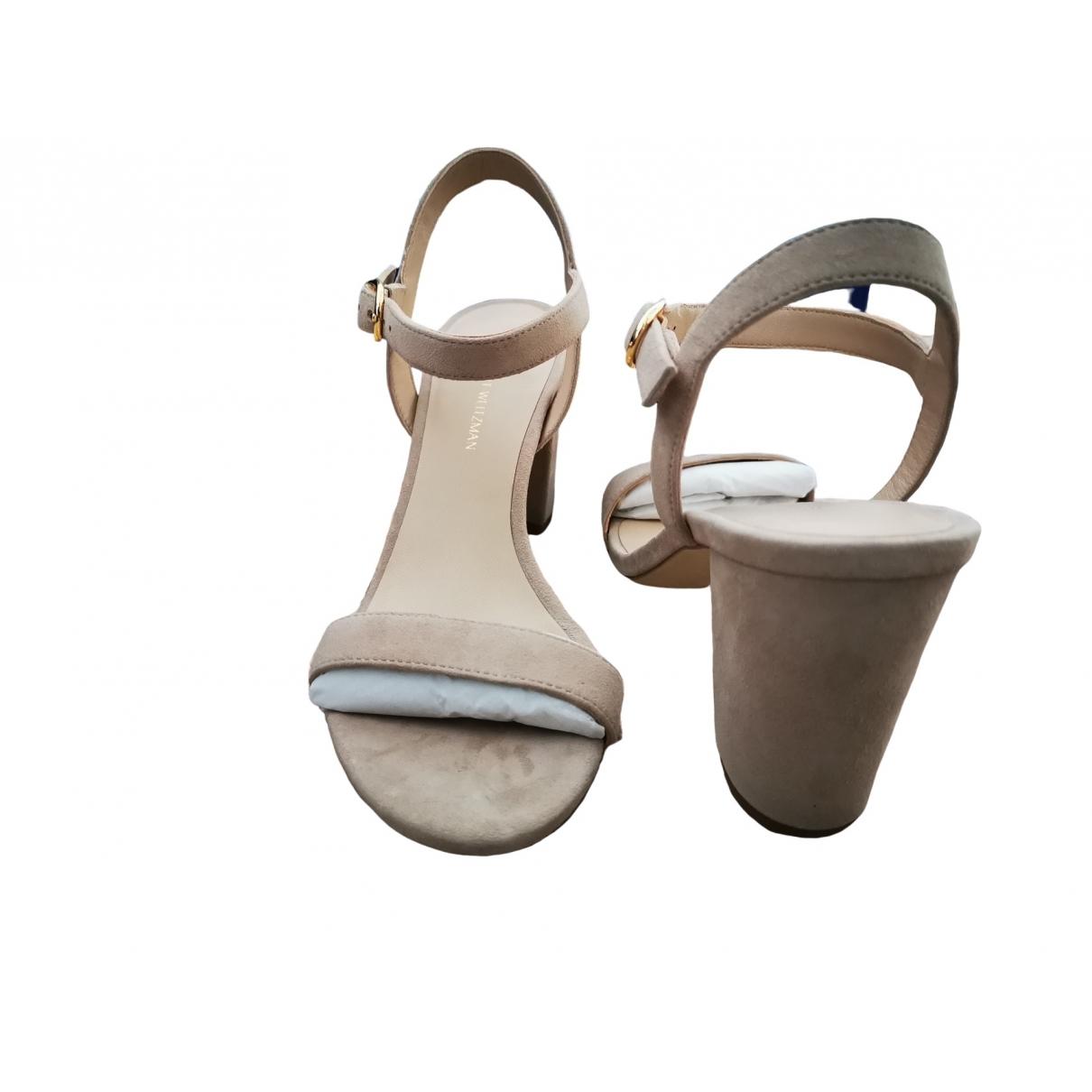 Stuart Weitzman \N Pink Suede Sandals for Women 39 EU