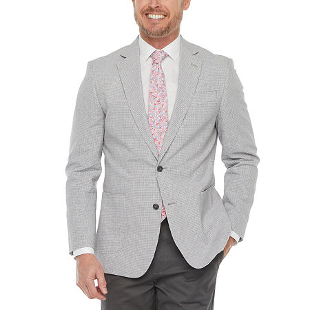 Stafford Linen Cotton Mens Classic Fit Sport Coat, 44 Short, Black
